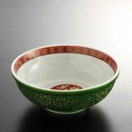t5058-25-1サイズ:φ19.7x7.5緑金彩ラーメン鉢