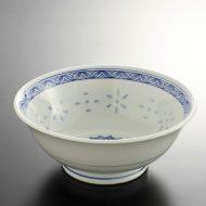t5081-25-1サイズ:φ21.0x8.3青帯ホタル風ラーメン鉢