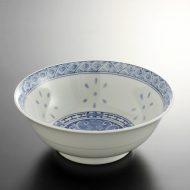 t5082-25-1サイズ:φ20.1x7.6格子帯ホタル風ラーメン鉢
