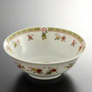 t5119-25-1サイズ:φ19.3x7.1黄帯雷門唐子鉢