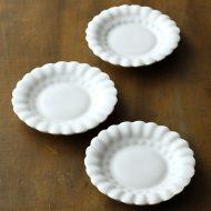 w1118白釉オランダ豆皿(高島 大樹)