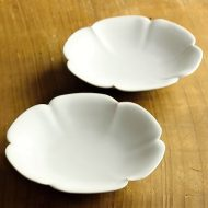 w1512-65-2*φ14.0x2.7マット白花輪深皿