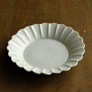 w1525-75-1*φ14.5x3.5菊輪粉引き皿 小