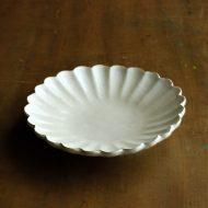 w1533-65-1*φ14.5x3.0粉引き菊形皿