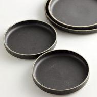 w1543-50-2*φ16.5HASAMI PORCELAIN  黒小皿