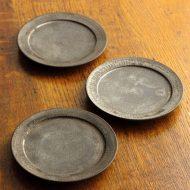 w1557-45-3*φ12.5金彩濃茶リム小皿