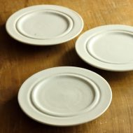 w1577-25-3*φ14.8粉引きうす青高台平皿