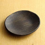 w1580-30-1*15.2x14.0こげ茶すじ目楕円皿