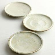 w1606-55-3*φ14.0x1.0粉引きつや小皿(高木剛)