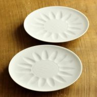 w1623-75-2*Φ12.3白磁ひまわり小皿