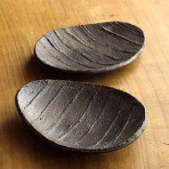 w1629-20-2*14.5x11.2縁素焼きだ円皿