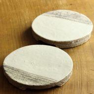 w1638-45-2*φ13.0x2.0白に半月刷毛目平厚皿