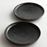 w1641 花形薄緑小皿