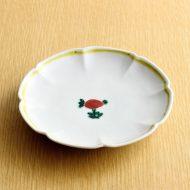w1646-50-1*φ14.3九谷小花縁黄ライン皿