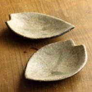 w1659-35-2*12.0x8.5信楽桜花びら型小皿