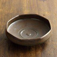 w1662-75-1*φ10.5x3.0茶八角深皿(岡 晋吾)
