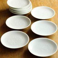 w1668-25-9*φ11.2白磁花地模様小皿