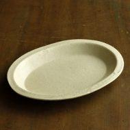 w1677-90-1*17.8x13.2きなり縁つき楕円小皿
