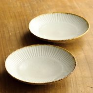 w1679-45-2*φ11.5x2.0薄茶縁鉄色しのぎ小皿(黒木 泰等)