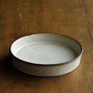 w1684-75-1*φ12.5x2.5粉引き縁高皿  はしもと さちえ