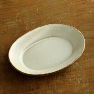 w1712-30-1*12.8x10.0x1.8粉引楕円小皿