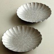 w1721-45-2*φ14.0x2.5銀彩菊形小皿