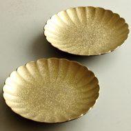w1722-45-2*φ14.0x2.5金彩菊形小皿