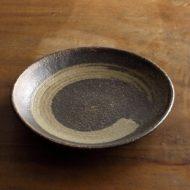 w2007-251*φ18.5x3.1茶刷毛目皿