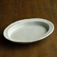 w2012-451*20.0x15.0青磁しのぎだ円皿
