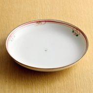 w2023-451*φ16.3白地朱線柄皿