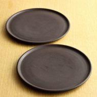 w2025-552*φ18.0こげ茶マット平皿