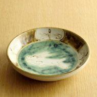 w2042-451*φ15.3x3.4九谷茶うさぎ皿