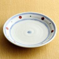 w2049-251*φ15.8青ライン赤小花皿