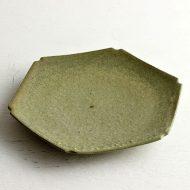 w2067 抹茶色六角皿
