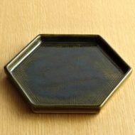 w2095-201*φ16.0織部布目六角平皿