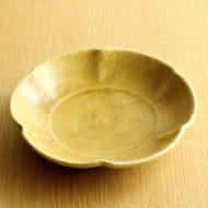 w2119-451*φ16.5x3.5黄瀬戸花形皿