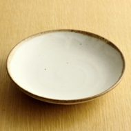 w2128-351*φ16.2x3.0粉引き縁土ライン深皿
