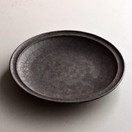 w2133-651*φ15.7鉄色に金採皿 (中御門雅広)