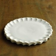 w2143-801*φ18.0マット粉引ふちしのぎ皿