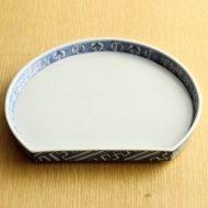 w2149-1501*20.6x17.6京焼福寿半月皿