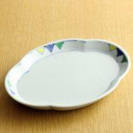 w2150-451*20.0x15.2色染付変形皿