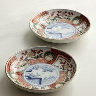 w2167 骨董絵皿