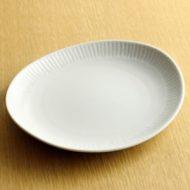 w2172-301*20.0x18.0白地変形皿