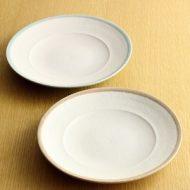 w2244-501*φ19.8SAKUZAN粉引き縁ライン皿
