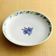 w2268-601*φ18.7縁三色染付花柄皿