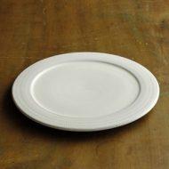 w2294-751*φ19.0小石窯ポッタリー白平リム付パン皿