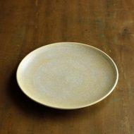w2301-501*φ18.0x2.0薄茶刷毛目つや皿 はしもと さちえ