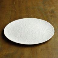 w2304-1501*φ21.0k、sマット白磁花柄皿