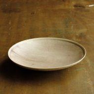 w2305-451*φ15.7x2.4薄茶刷毛目皿