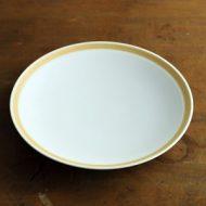 w2325-551*φ18.5x2.7白縁薄茶ライン皿 φ18.5 白山陶器